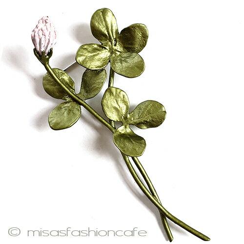 ブローチ 幸運のクローバー  ボタニカル ギフト プレゼント 贈り物 植物モチーフ 四つ葉