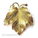Trifari トリファリ  ブドウの葉 ブローチ 葡萄 リーフ Vintage・ヴィンテージジュエリー コスチュームジュエ…