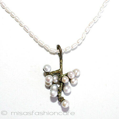 MichaelMichaud (マイケルミショー) 真珠 梅の花 ネックレス   パールネックレス 植物モチーフ ギフト プレゼント MADE IN USA