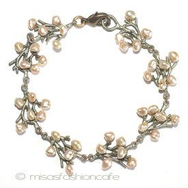 MichaelMichaud (マイケルミショー) 真珠の珊瑚 ブレスレット サンゴ 海藻 海 モチーフ MADE IN USA  【レターパックライト可】