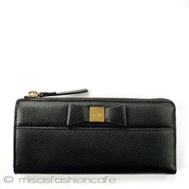 kate spade ケイトスペード 長財布 ブラック 黒 リボン りぼん   ギフト プレゼント 贈り物 L字ファスナー
