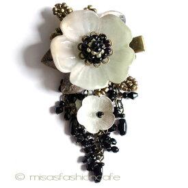 パーティー・ヘアークリップ フラワー カリフォルニア製 お花結婚式 二次会 パーティー ブライダル ヘアアクセサリー ヘアクリップ【レターパックライト可】
