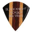 ブラックナイト ミックスウッド 素材:エボニー/ハルドゥ/アフリカンパドック ゲージ:約2.00mm 5枚入り【ピックボーイギターピッ…