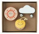 こども カスタネット 太陽 雲 ニコニコ カラフル 子ども用 楽器 おもちゃ 木製 知育 音楽 教育 出産祝い 入園祝い プレゼント 【リズミ…