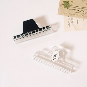 楽譜クリップピアノMUSICFORLIVING【ミュージックブッククリップクリア鍵盤】