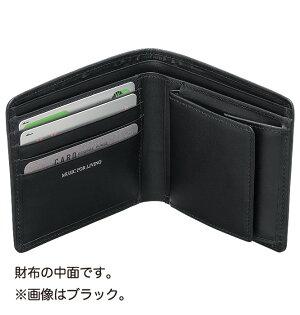 MUSICfORLIVINGLEATHER二つ折り財布ローズ