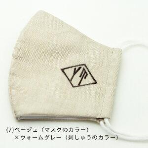 イニシャル刺繍マスク(2枚セット)