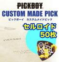 カスタム・メイド・ピック・オーダーフォーム50枚/1セット素材:セルロイド【ピックボーイギターピック】【PICKBOY】GUITRPICK 【ナカ…
