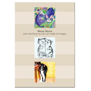 ネコの便せん A5 横書き かわいい お手紙 社会貢献 障がい者アート 自立支援