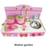 マザーガーデン野いちごおままごと卓上キッチンセット|木製ままごと|女の子|ままごとデビュー|おもちゃ