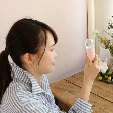 Hinamiナノフェイスミスト白色桃色携帯ミスト顔用加湿器補水美容器USB充電式小型フェイス保湿安心安全快適な暮らしをサポート
