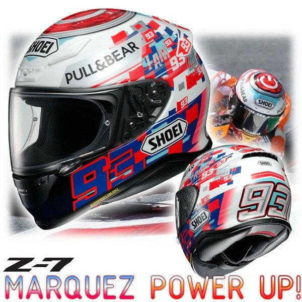 ★送料無料★ショウエイ(SHOEI) Z-7 MARQUEZ POWER UP! マルケス パワーアップ! レプリカ フルフェイスヘルメット