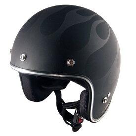 スピードピット JS-65GXα GIGAXマットブラック/ガンメタ/ファイヤー ジェットヘルメット 大きめサイズ