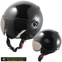 バーキン シールド付きジェットヘルメット レギュラー P.ブラック シレックス BARKIN ZS-210K
