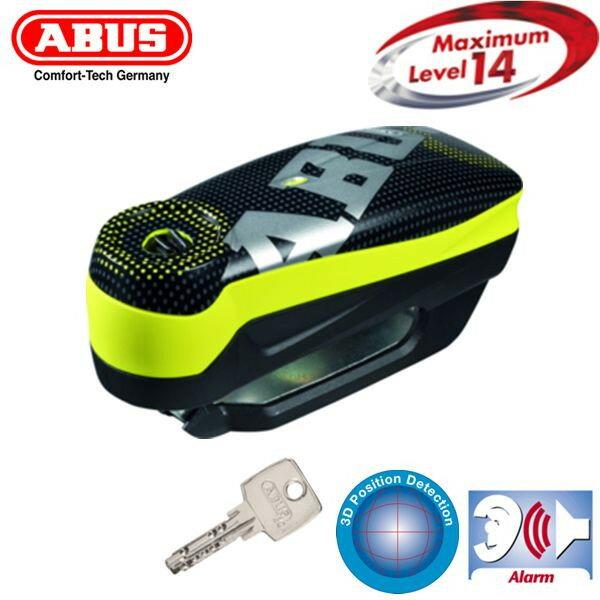 ★送料無料★アブス(ABUS) アラーム付きディスクロック ディテクトロ 7000 RS1 Detecto 7000 RS 1 pixel (イエロー)