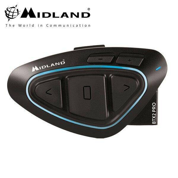 ★送料無料★ミッドランド BT X2 PRO Hi-Fi シングルマルチメディア インカム シングルパック MIDLAND