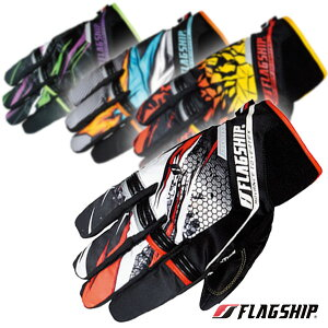 "Flagship/フラッグシップ ""FG-W194 Advanced GPC Glove"" インパクト抜群のデザインが全てのライディングシーンを高揚させるウインターグローブ。 バイク/オートバイ用 ライディング 防寒レザーグロー"