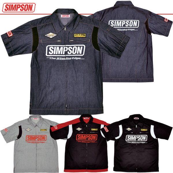 今だけ★送料無料!MSH-051 SIMPSON シンプソン メカニックシャツ