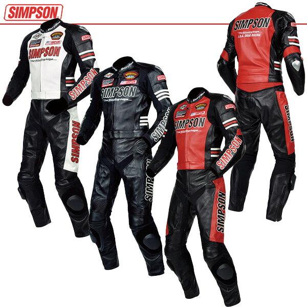 ★送料無料★シンプソン 2ピース レザースーツ SST-910 SIMPSON