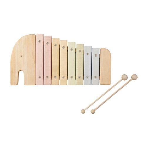 限定クーポン有 《あす楽》木のおもちゃ エレファントシロフォン エドインター(Ed. Inter) 木琴 楽器玩具 木製 日本製 知育 誕生日 音楽 809556