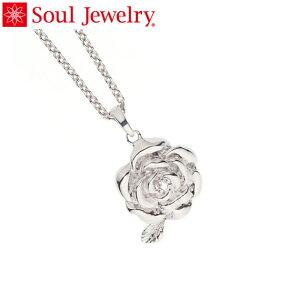 遺骨ペンダント Soul Jewelry ローズ Pt900 プラチナ 『ダイヤモンド』 (予定納期約4週間)