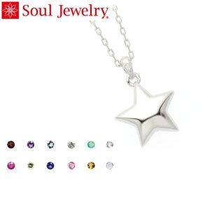 遺骨ペンダント Soul Jewelry スター Pt900 プラチナ 11種類の誕生石から選べます (予定納期約4週間)