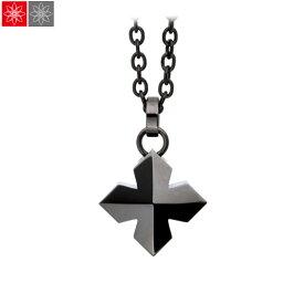 遺骨ペンダント Soul Jewelry スタッドクロス 『ブラック』 (チェーンの色:ブラックカラー) ステンレス316L