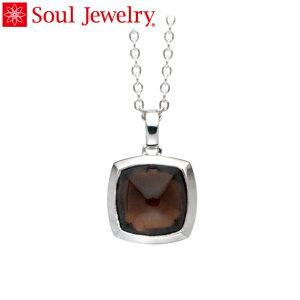 遺骨ペンダント Soul Jewelry スモーキークォーツ ピラミッド Pt900 プラチナ (予定納期約4週間・代引のご注文は不可)