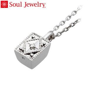 遺骨ペンダント Soul Jewelry クレスト Pt900 プラチナ・ダイヤモンド (予定納期約4週間・代引のご注文は不可)