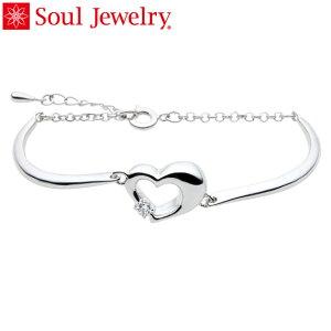 遺骨アクセサリー Soul Jewelry ブレスレット バングルタイプ 『ハート』 シルバー925