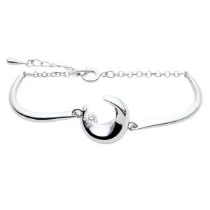 遺骨アクセサリー Soul Jewelry ブレスレット バングルタイプ 『クレッセント』 シルバー925