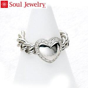 遺骨アクセサリー Soul Jewelry チェーンリング ハート 遺骨を納めて身につけられる指輪 シルバー925