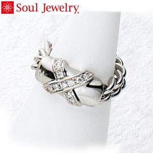 遺骨アクセサリー Soul Jewelry チェーンリング クロス 遺骨を納めて身につけられる指輪 シルバー925