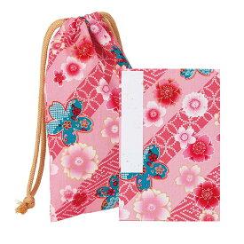 【御朱印帳】御朱印帳 巾着袋付 綿友禅 色:桜/ピンク