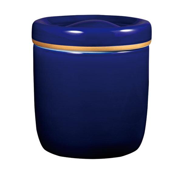 【Yahooニュースで深川製磁が紹介されました】【骨壷】瑠璃磁さくら 瑠璃彩磁 サイズ:7寸壺 (深川製磁)【送料無料】世界が認めたフカガワブルーが、さくら花枝と共に澄みきった美しさを醸し出します[骨壺 仏具 供養][磁器 陶器]【メモリアルアートの大野屋】