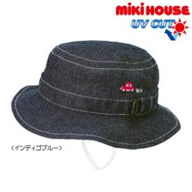 [mikihouse][ミキハウス]赤いミニカー☆デニムクロッシェ(帽子)〈SS-L(46cm-54cm)〉