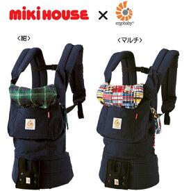 [mikihouse][ミキハウス]【箱付】ミキハウス×エルゴベビーコラボ『ベビーキャリア』(チェック)