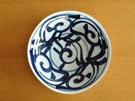 和食器藍草紋六ベエ型6.8深皿【美濃焼/食器%OFF/訳あり/アウトレット/通販/器/大鉢/浅鉢/深皿】