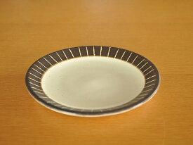 和食器土物手彫錆十草14.3cm皿【美濃焼/食器/訳あり/通販/器/アウトレット込み/中皿/プレート】