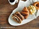 白い食器 フラットオーバルベーカリープレート40.7cm ホワイトレベル2【美濃焼/食器/訳あり/アウトレット/大皿/カフェ風/cafe風】