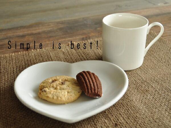 白い食器 ハートのチョコレートディッシュ ホワイトレベル2【美濃焼/食器/訳あり/アウトレット込み/ハート/中皿/取り皿/カフェ風/cafe風】