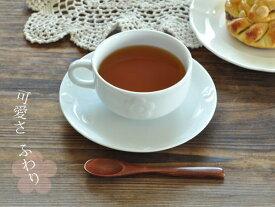 食器 コーヒーカップ おしゃれ カップソーサー 美濃焼 アウトレット 白磁 ポーセラーツ カフェ風 お花のティーカップ&ソーサー