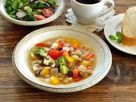 食器 カレー皿 パスタ皿 おしゃれ 和食器 モダン 美濃焼 スープ皿 深皿 アウトレット カフェ風 渕錆粉引スープ皿21.3cm