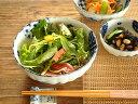 和食器 藍丸紋菊形5.5鉢【美濃焼/食器/訳あり/アウトレット込み/通販/器/中鉢/菊型/花形/花型/カフェ風/cafe風】
