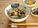 和食器 藍丸紋菊形6.8鉢【美濃焼/食器/訳あり/アウトレット込み/通販/器/大鉢/菊型/花形/花型/カフェ風/cafe風】