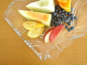 食器 大皿 おしゃれ アウトレット ガラス カフェ風 リボン29.6cmプレート