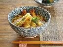 食器 ラーメン どんぶり おしゃれ 和食器 モダン ラーメン鉢 美濃焼 うどん アウトレット カフェ風 藍染たこ唐草讃岐丼