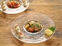 食器 大皿 おしゃれ 日本製 プレート 丸皿 アウトレット カフェ風 (CR265、F-49380) (26.5cm)リムレットプレート(クリア)