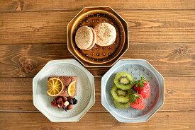 食器 取り皿 おしゃれ 中皿 美濃焼 プレート 銘々皿 八角形 アウトレット カフェ風 小花レリーフ15.2cmプレート