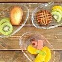 食器 小皿 おしゃれ 日本製 ガラス プレート 菓子皿 アウトレット てびねり カフェ風 (P-6283) Tebineriミニトレイ